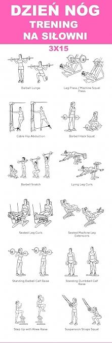 Plan na grudzień - trening nóg i pośladków . Obciążenie najlżejsze 15 kg najcięższe 50-60 kg. 3 serie po 15 powtórzeń oraz 4 serie po 20 na mięśnie nóg.