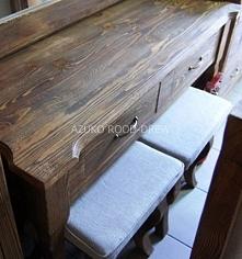 stolik przyścienny woskowany
