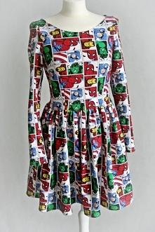 Dresowa sukienka KOMIKS
