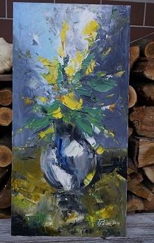 Obraz Kwiaty.Olej na płotni...