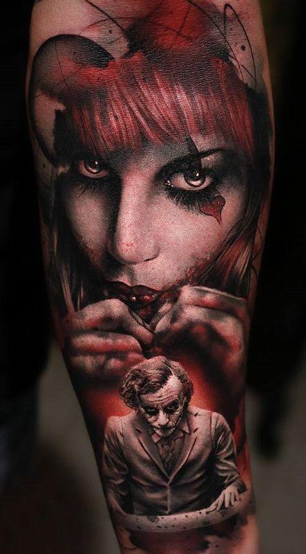Joker I Kobieta Tatuaż Na Tatuaże Zszywkapl