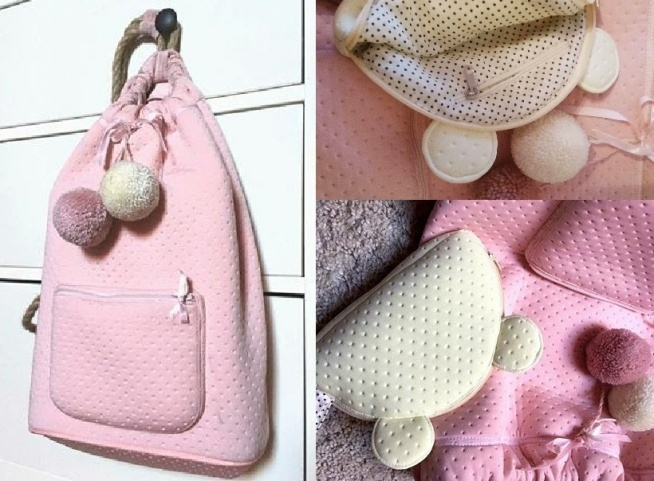 plecaczek i kosmetyczka własnoręcznie uszyte :)dostępne w 3 kolorach :)