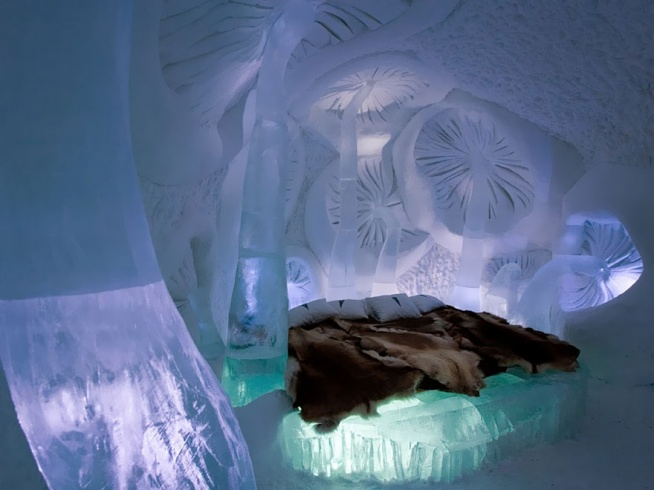 Ice Hotel in Jukkasjarvi, Sweden
