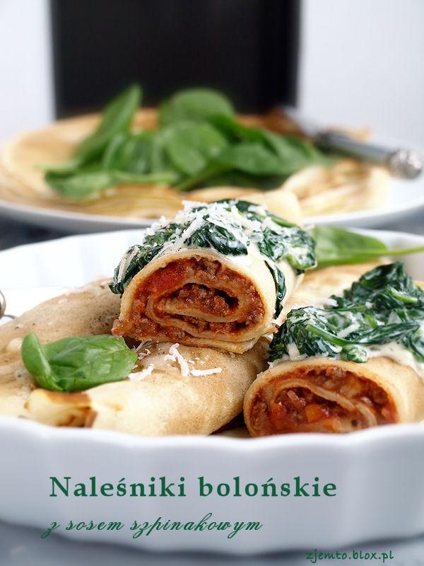 Naleśniki bolońskie z sosoem szpinakowym. Przepis po kliknięciu w zdjęcie.