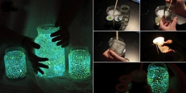 świetny pomysł na prezent! pięknie to wygląda w nocy! a potrzebujemy tylko słoiczek, specjalną farbę i trochę cierpliwości!