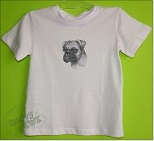 Koszulka dla dziecka z bokserem.