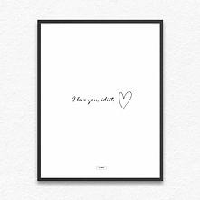 plakaty - i love you, idiot :) - sklep OTIEN - kliknij w zdjęcie