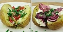 Pyszne pieczone ziemniaczki na 4 różne sposoby  Składniki:  4 ziemnniaki 2 łyżki oliwy z oliwek sól   Sposób przygotowania: Połóż ziemniaki na blaszce do pieczenia, a następnie ...
