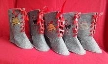 buty z filcu jako opakowanie na prezenty 35 zł