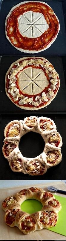 Co powiecie na pizze w takiej wersji? :)  Składniki: ciasto: 3 szklanki mąki ...