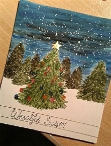 pierwsza w tym roku moja świąteczna kartka :)  #christmas #święta #kartkiswiateczne #diy #art