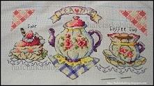 TEA TIME - haft krzyżykowy