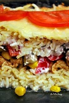 Szybka zapiekanka ryżowa gyros. Przepis po kliknięciu w zdjęcie.