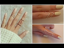 DIY easy rings ♡ Piękna i d...