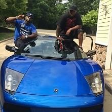 blue, car, lamborghini, black, man, fame
