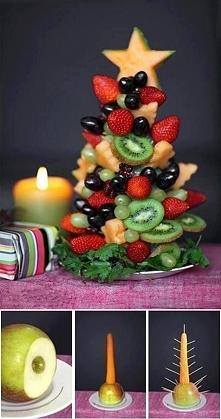 W świeta też nie moze zabraknąć owoców. W końcu lepsze owoce, niż słodycze. G...