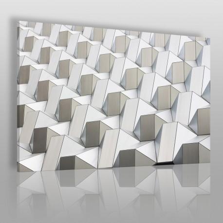 Pattern w bieli - zdjęcie na płótnie