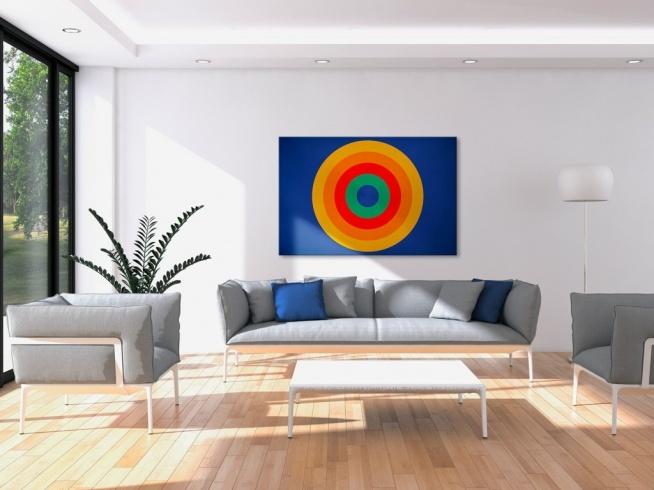 Kręgi pełne energii - nowoczesny obraz na płótnie
