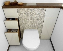 zagospodarowanie powierzchni w toalecie