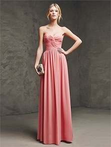 Strapless Sweetheart With Gathered Bodice Chiffon Prom Dress PD3164