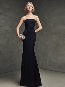 Strapless Mermaid With Chapel Train Black Prom Dress PD3166