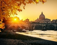Rzym w kolorach jesieni wygląda przepięknie