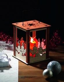 Stwórz świąteczną atmosferę z latarnią ze świecą woskową LED Christmaxx