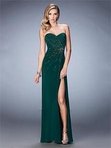 Stunning Sweetheart Gathered Side Slit Chiffon Prom Dress PD3230