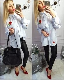 Biała koszula z haftem Kliknij w zdjęcie by przejść do sklepu <3