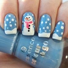 Czas na zimowy manicure:)
