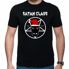 Koszulka Satan Claus z pentagramem i kozłem w czapce Mikołaja - alternatywna ...