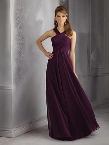 A-LINE SLEEVELESS HALTER CHIFFON RUCHED FLOOR-LENGTH BRIDESMAID DRESSES dress...