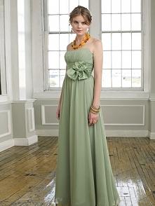 A-LINE/PRINCESS STRAPLESS EMPIRE CHIFFON BRIDESMAID DRESSES WITH HAND-MADE FL...
