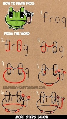 how to draw from the word FROG