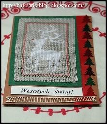 kartka świąteczna - renifer