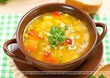 Zupa jarzynowa z grzankami czosnkowymi