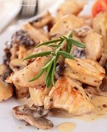 Kurczak w sosie pieczarkowym