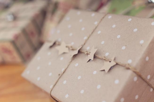 Piękne opakowanie świątecznego prezentu!