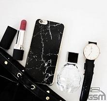 Klasycznie i pęknie - Elegancki Czarny Marmur Etui na wiele modeli telefonów