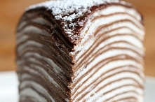 For the crepes: 6 tablespoons (100 grams) butter 3 cups (675 milliliters) milk 6 eggs 1½ cups (210 grams) flour ⅔ cup (80 grams) cocoa powder 7 tablespoons (105 grams) sugar 4 c...