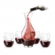 Taki prezent od Mikołaja mi się marzy <3. Piękna karafka, doskonałe wino. ...