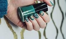 Zimowe inspiracje :) Joko J142 Coriander Green i wzorki malowane farbkami akrylowymi.
