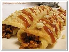 Naleśniki z farszem mięsno-pieczarkowym i mozzarellą (przepis klik w zdjęcie)