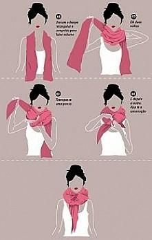 Jak wiązać szal.