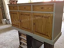 drewniana komoda dwukolorowa
