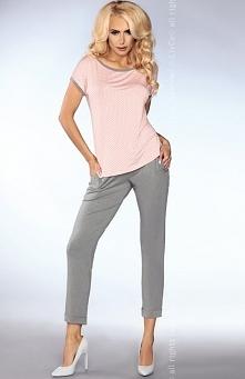 Livia Corsetti Mimi 101 piżama Piękna dwuczęściowa piżama, bluzka z krótkim rękawem, wykonana z różowej dzianiny w urocze groszki