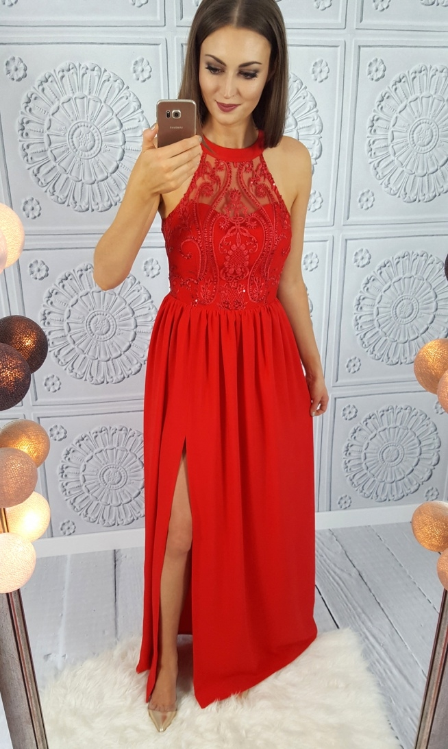 Czerwona maxi suknia Illuminate <3 <3 <3