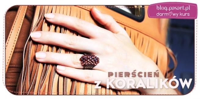 Modny pierścionek, który możesz stworzyć sama. ZObacz jakie to proste i zostań projektantką biżuterii - DARMOWY kurs DIY