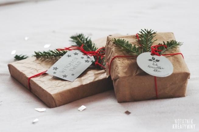 Pomysły na opakowanie prezentów + etykietki do