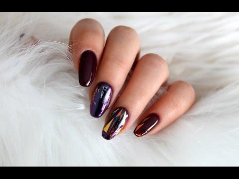 Sylwestrowe Paznokcie Hybrydowe Glass Nails Szklane Paznokcie Na